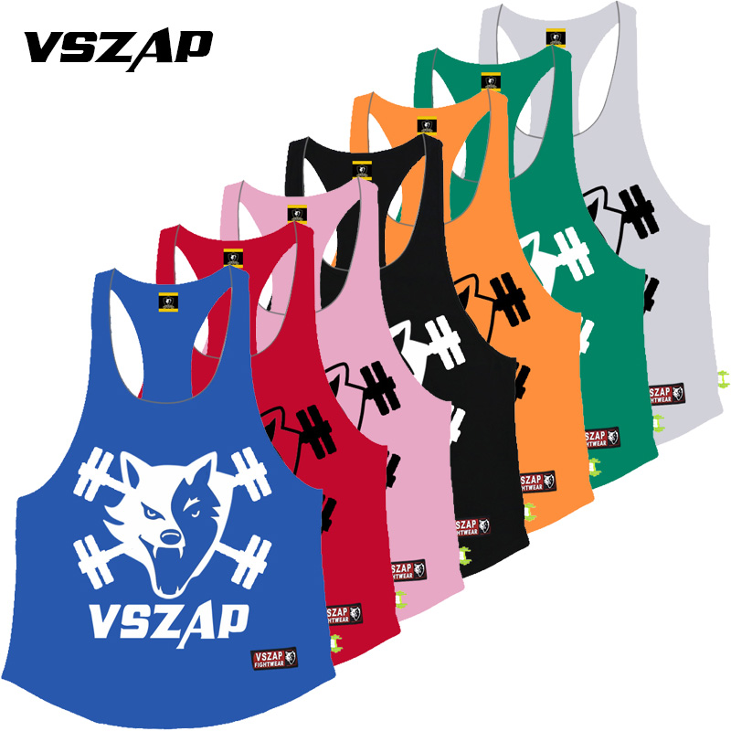VSZAP NEW Tank Top Boxing MMA T Shirt Gym Tee Shirt Fighting Fighting Martial Arts Fitness Training Muay Thai TShirt MenHomme