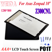 WEIDA For Asus Zenpad 10 Z300 Z300CNL 1280*800  LCD Display Touch Screen Assembly + Frame P01T 10 1 lcd display kd101n37 40na a10 for b3 a20 k9px tablet pc authentic hd 800 1280 lcd internal display screen free shipping