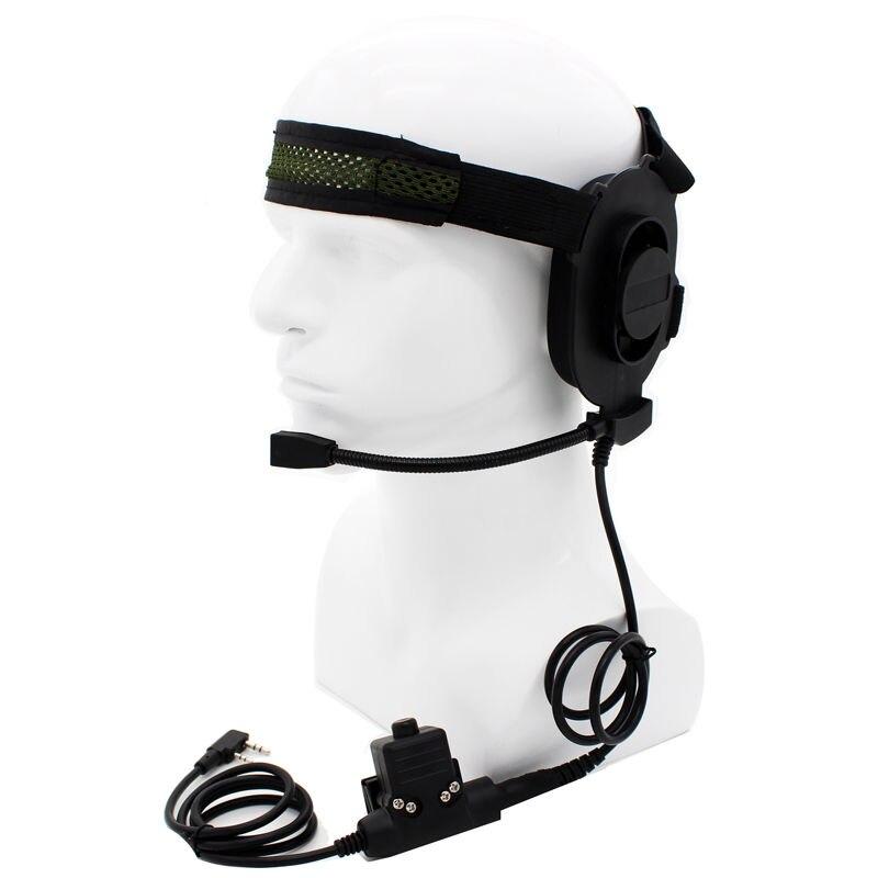Z Tactical HD01 with U94 PTT Peltor PTT Two Way Radio Headset for BaoFeng UV-5R UV-82 BF-F8HP UV-6R Retevis RT-5R Walkie Talkie(China)