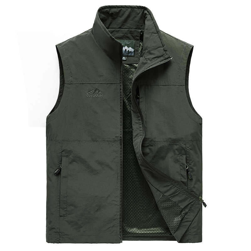 Mouwloos Vest Mannen Zomer Ademend Vest Multipockets Vest Jas Mannen Outdoor Vissen Fotografie Vest Reizen Kleding 7XL