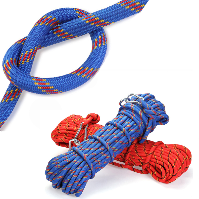 Climbing Rope Outdoor Emergency Rope 10m/15m/30m/50m Wear Resistant 10mm Diameter High Strength Hiking Accessory Tool