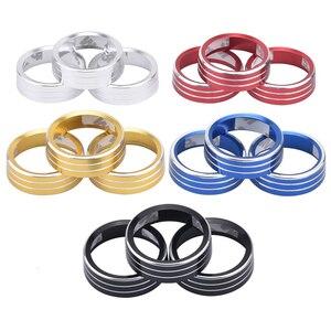Image 2 - Air Conditioning Knob Decorative Cover Ring Adjust Trim Cover For VW Tiguan Atlas T roc Ateca FR Passat B8 Variant 2017 2019