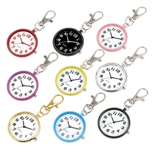 Creative Keychain Watch Ultra-thin Round Dial Quartz Hanging Watch Charms Key Chain Jewelry Bag Key Holder Gifts for Men Women mix wings key chain charms for diy handmade gifts keychain flying wing jewelry