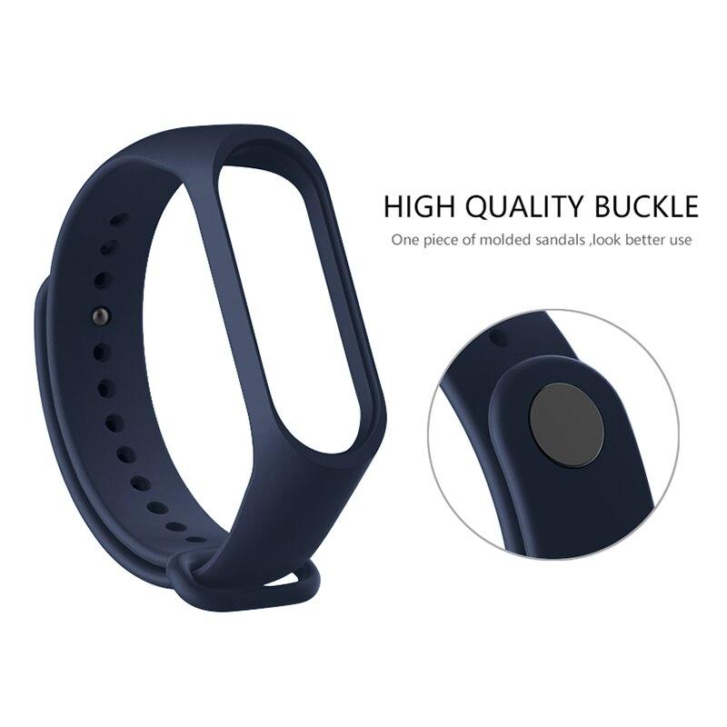 Band Voor Xiaomi Mi Band 5 4 3 Sport Polsband Siliconen Armband Mi Band 3 4 Band5 Vervanging Bandjes Voor mi Band 5 Horloge Band 4