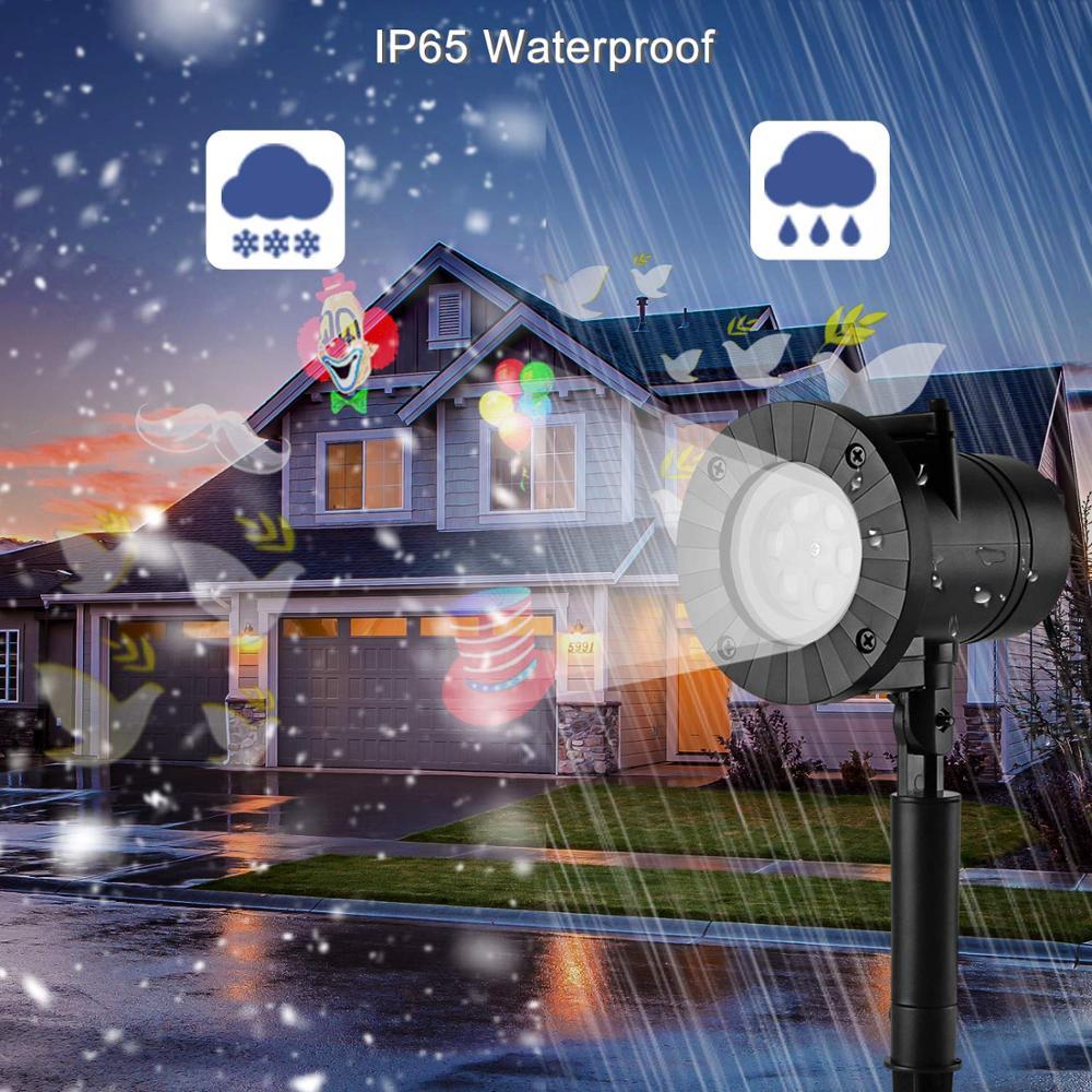 12 mönster julprojektor laserlampor LED vattentät snöflinga - Kommersiell belysning - Foto 4