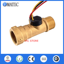Free Shipping VCA568-2 Magnetic Brass Rate And Oil Material Meter Water G1/2 Thread Ventilator Flow Sensor
