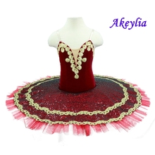 High quality red ballet tutu paquita girls professional classical performance tutus Spainsh for Adult women
