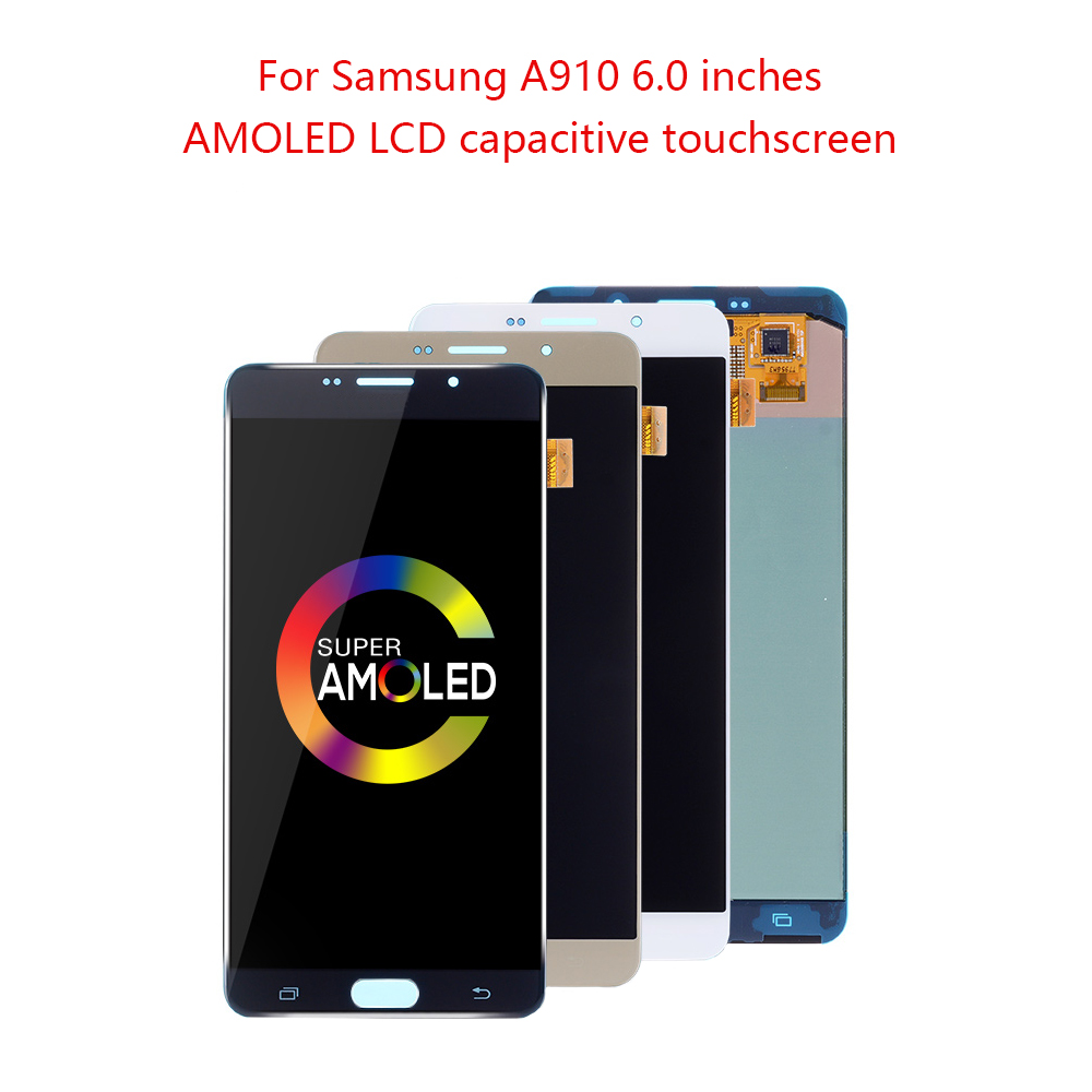 AMOLED 6.0'' LCD For SAMSUNG GALAXY A9 Pro A910 LCD Display Touch Screen Digitizer Assembly For SAMSUNG A9 Pro 2016 A9 LCD