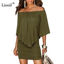 Серо зеленого цвета с вырезом лодочкой для женщин Мини платье