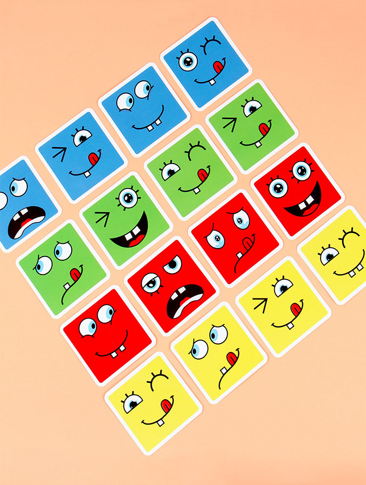חדש מונטסורי ביטוי פאזל פנים שינוי קוביית אבני בניין צעצועי למידה מוקדמת חינוכי משחק צעצוע לילדים מתנה 10