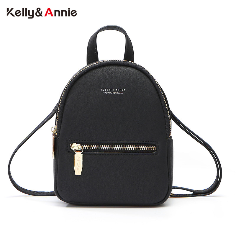 Forever Young Women Backpack Soft Leather Multi-Function Female Mini Backpack Shoulder Bag Ladies Purse Small Mochila Bolsos