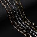 Цепочка Из родия для браслета и ожерелья, ювелирные изделия «сделай сам», аксессуары для рукоделия, цвет золото, сердце, 2 метра