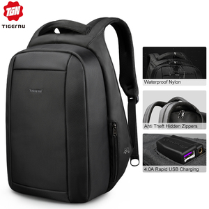 Image 1 - Tigernu Splashproof Anti Theft Mens Backpacks 15.6inch Laptop Notebook USB Backpack for Teenage Women Male Mochila