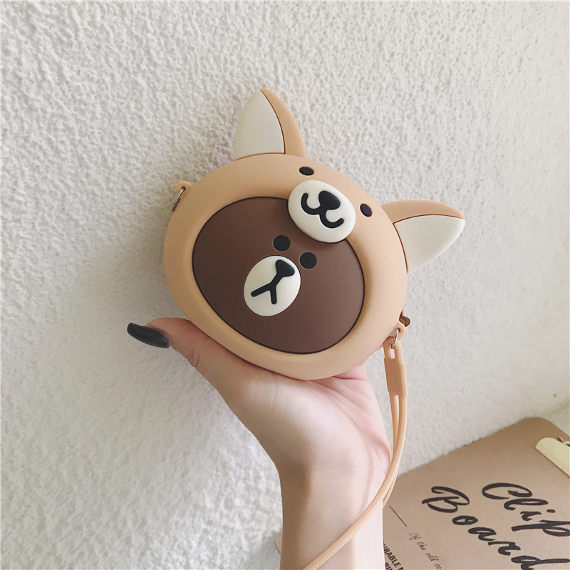 Cute Women Wallet Kawaii Cartoon Fox Silicone Mini Purse Jelly Coin Bag Key Pouch Earphone Organizer Storage Box Small Pocket