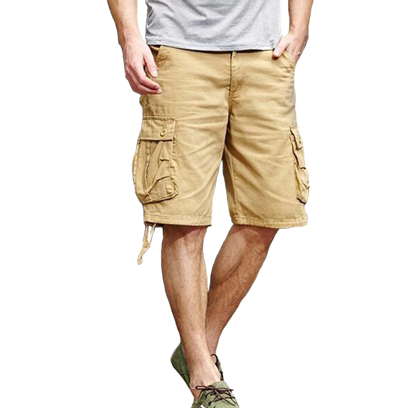 Shorts Men Summer Loose Cotton VogueShort Pants Mens Outwear Straight Pocket Military Sports Cargo Shorts Bermuda Masculina