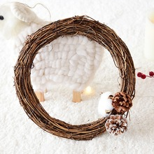 Crafts-Decor Wreath Party-Ornament Christmas-Gift Rattan-Wreath-Garland Wedding-Decoration