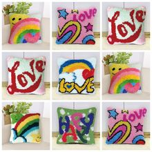 Latch Hook Pillow Smyrna Kits Diy Cross Stitch Pillows Embroidery Foamiran For Flowers Borduurpakket Kussen Gift Cat