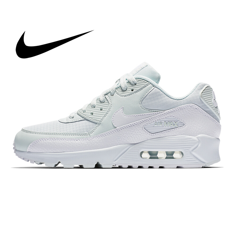 Original NIKE AIR MAX 90 ESSENTIAL Women's Running Shoes Classic Shock Absorption Fashion Mesh Breathable Sneakers 325213-419