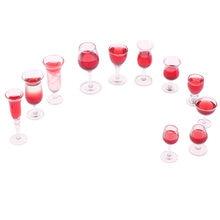 Мини красное вино стекло имитация чашки напиток модель игрушки
