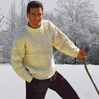 Зимний мужской толстый шерстяной свитер  1