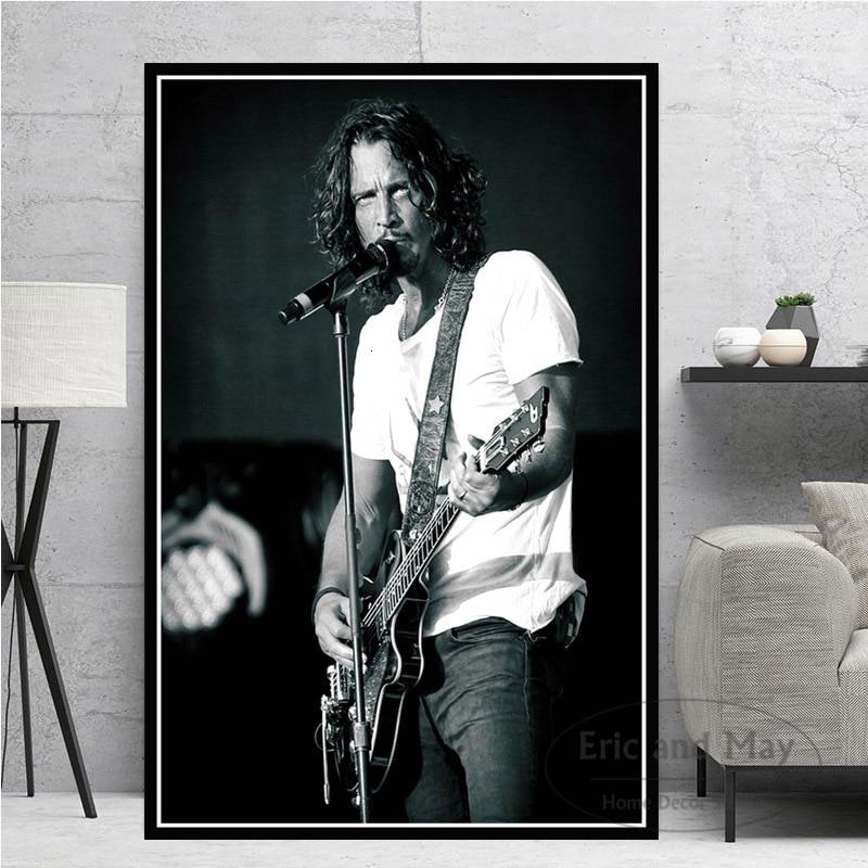 Chris Cornell müzik şarkıcı yıldız posterler ve baskılar tuval boyama duvar sanat resmi Vintage Poster dekoratif ev dekor Cuadros