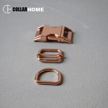 10 sets plated metal belt buckle 1 inch 25mm D rings manufacturer for bag dog pet collar accessories adjusters positive locking