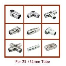 4 шт./лот хромированный алюминиевый сплав 25 мм 32 мм трубный зажим дисплей фитинги трубчатый разъем 1 2 3 4 способа