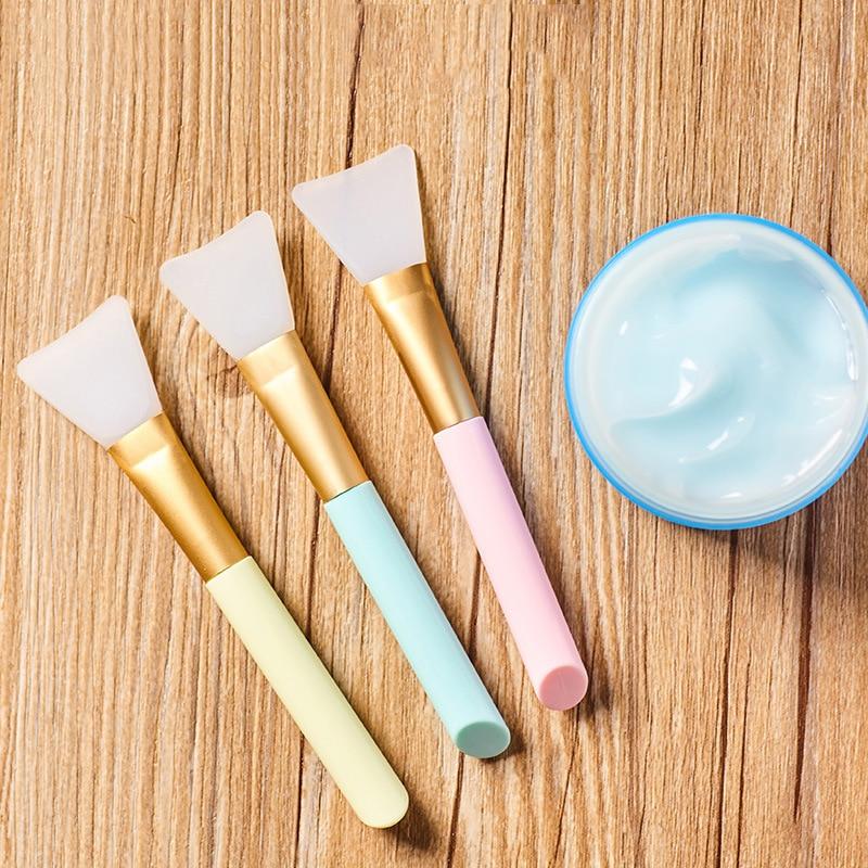 1 PCS Silicone Face Mask Brush Mixed Soft Foundation Brush Mask Beauty Tool Soft Silicone Facial Mud Mask Applicator Brush