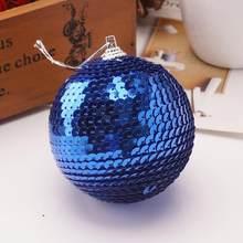 Natal strass glitter bola rosa azul bolas natal árvore ornamento decoração 8cm decorações de natal para decoração de casa