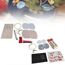 lace DIY Embroidery Bag Needlework Materials Kits Set Hand-Made Swing Craft Gift african lace fabric 2018 high quality lace(China)