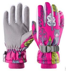 Детские зимние теплые перчатки, лыжные перчатки для снега, холодной погоды, для детей, мальчиков и девочек