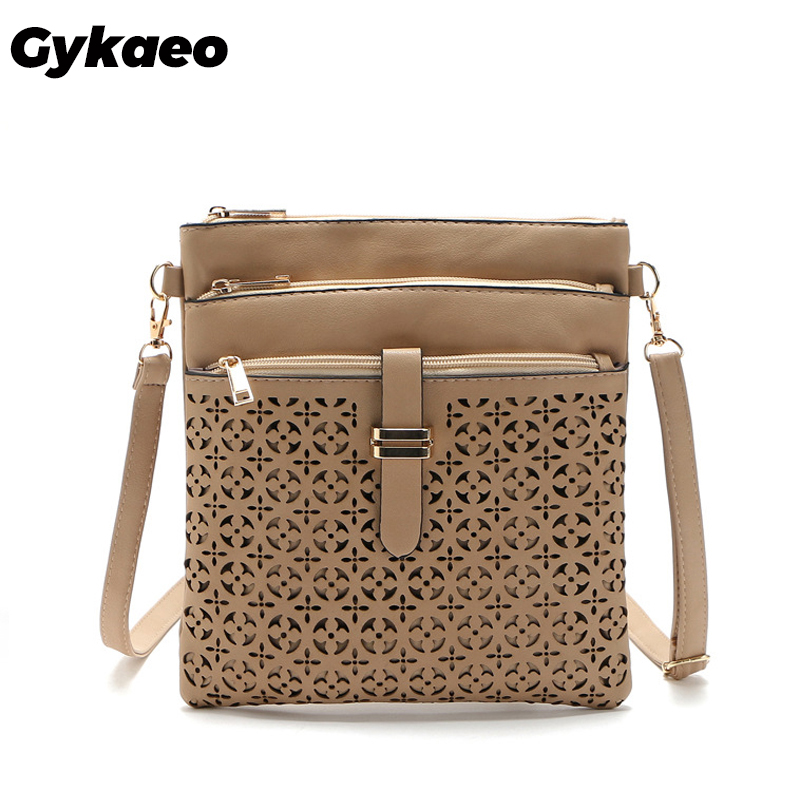2019 Fashion Small Bag Women Messenger Bags Soft PU Leather Hollow Out Crossbody Bag For Women Clutches Bolsas Femininas Bolsa