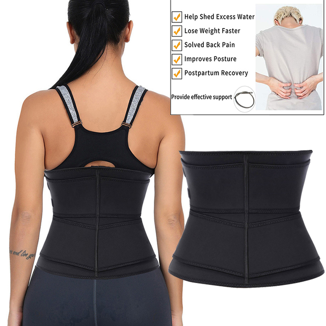 Neoprene Waist Trainer Thermo Sweat Body Shapewear Women Slimming Corset Tummy Control Belt Workout Compression Trimmer Fitness 1