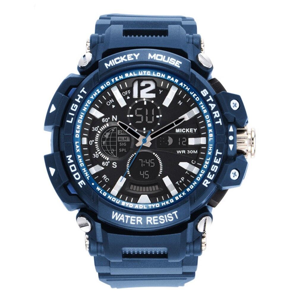 Дисней дети% 27 часы мальчик водонепроницаемые светящиеся спортивные электронные часы мальчик Дисней Микки