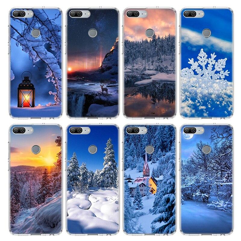 Зимняя куртка с белым в рождественском стиле с зимним принтом чехол для Huawei Honor 9 10 20 Lite 9X 8X 8A Pro 7A 7X Y5 Y6 Y7 Y9 2019 V20 V30 мягкий чехол для мобильного телефона чехол|Бамперы|   | АлиЭкспресс