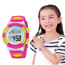Get more info on the Colorful Kids Watches Bright Rose Red Digital Watch For Children Sports Boys Girls Luminous LED Waterproof Clock reloj infantil
