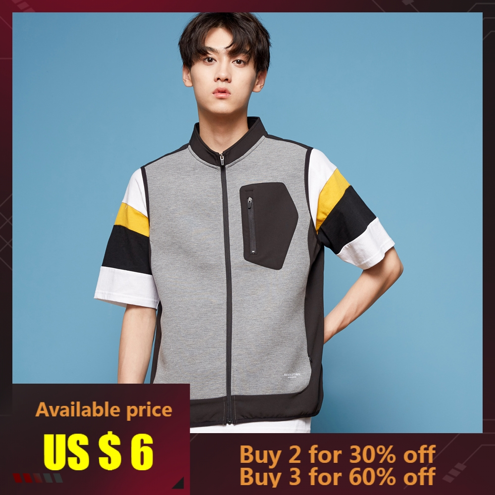 METERSBONWE Spring Autumn Men Vest  Stand Collar Thin Cardigan Couple Models