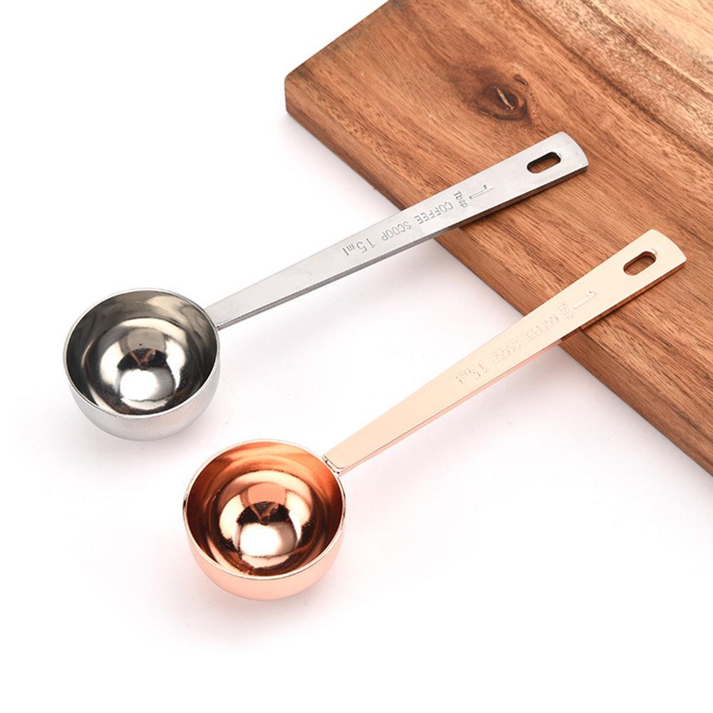 15ml/30ml Long Handle Stainless Steel Milk Coffee Powder Scoop Measuring Spoon Kitchen Measuring Tools   20119
