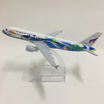 JASON TUTU 16cm Thai Bangkok Air Airbus 320 Plane Model Airplane Model Aircraft Model 1:400 Diecast Metal planes toy 20CM Airbus