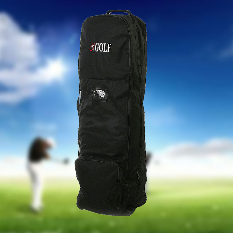 Flight Travel Sport Golf Bag Protective Coverall Cover Carrier With Wheels