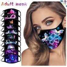 1 sztuk Unisex dorosłych kolorowe motyl maski na usta zmywalny i wielokrotnego użytku osłona na twarz ciepłe wiatroszczelne pyłoszczelne mondkapjes wasbaar tanie tanio Poliester NONE Chin kontynentalnych WOMEN Maska Cartoon