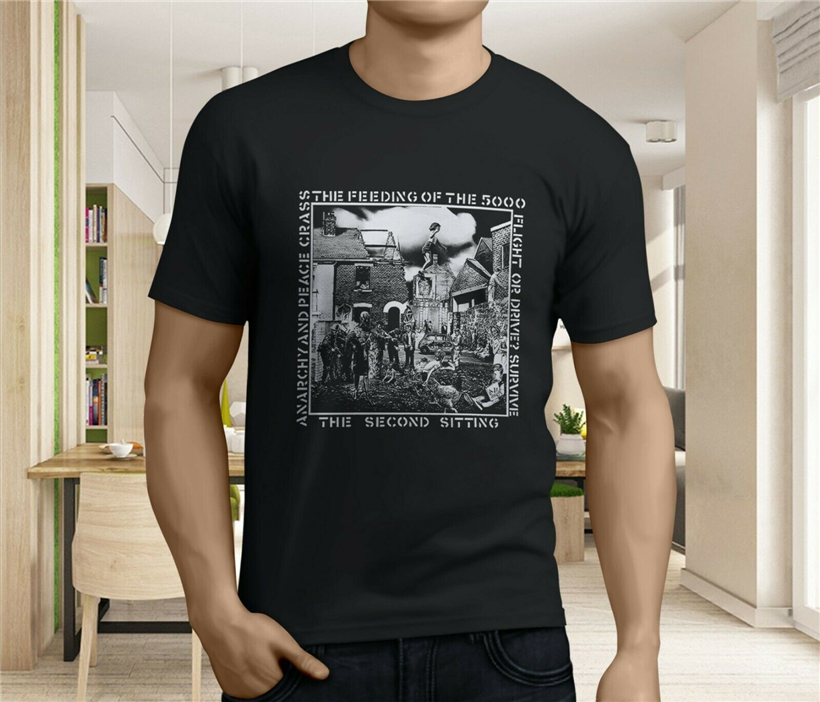 New Crass Punk Rock Band Album Music Men's Black T-Shirt S-3XL Festive Plus Size Tee Shirt image