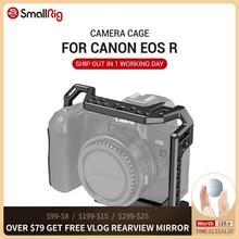 매직 암 마이크 용 콜드 슈 마운트 나사 구멍이있는 캐논 EOS R 용 SmallRig 카메라 케이지 2803 부착