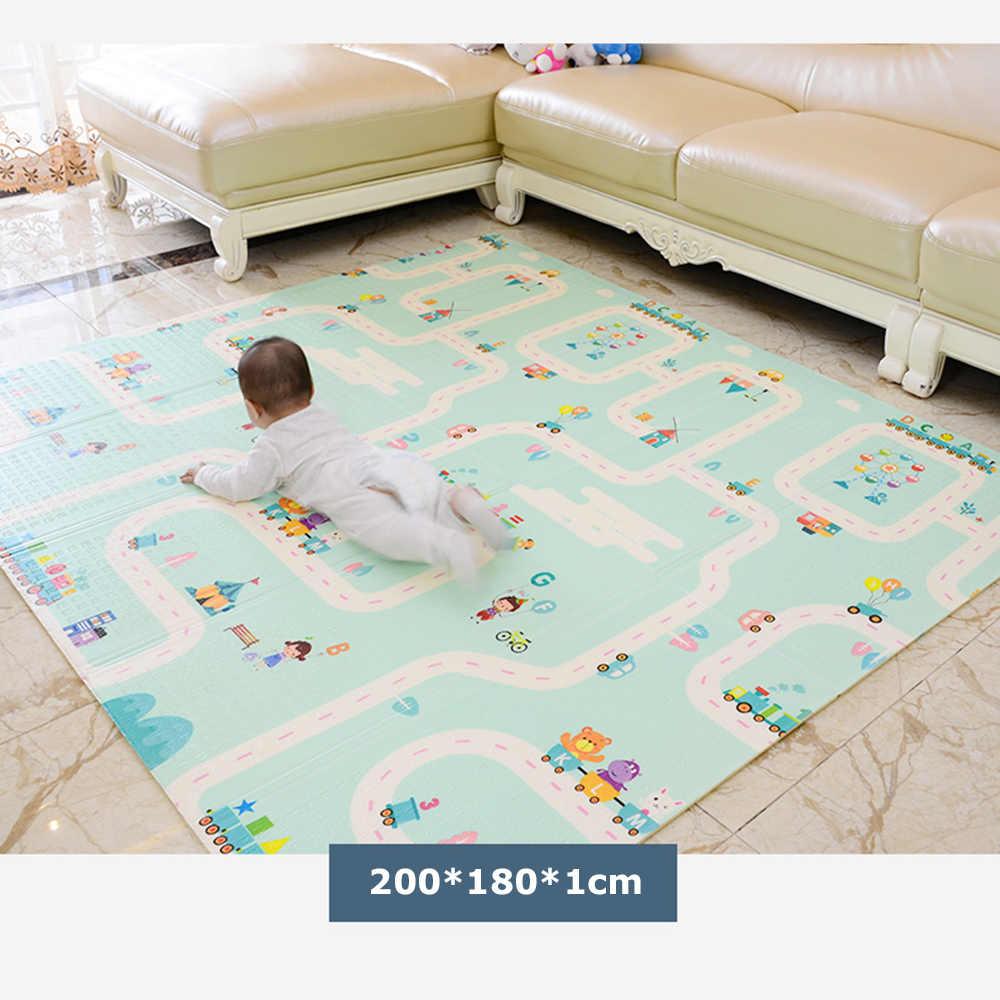 XPE çevre dostu kalın bebek emekleme oyun matı katlanır mat halı oyun matı çocuklar için Mat çocuk halı Playmat