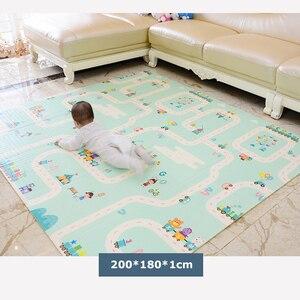 Image 3 - XPE صديقة للبيئة سميكة الطفل الزحف تلعب حصيرة للطي حصيرة السجاد تلعب حصيرة للأطفال حصيرة طفل البساط Playmat