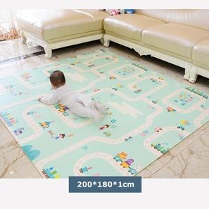 Image 3 - Xpe環境にやさしい厚手のベビークロールマット折りたたみマットを再生する子供のマット子供敷物プレイマット