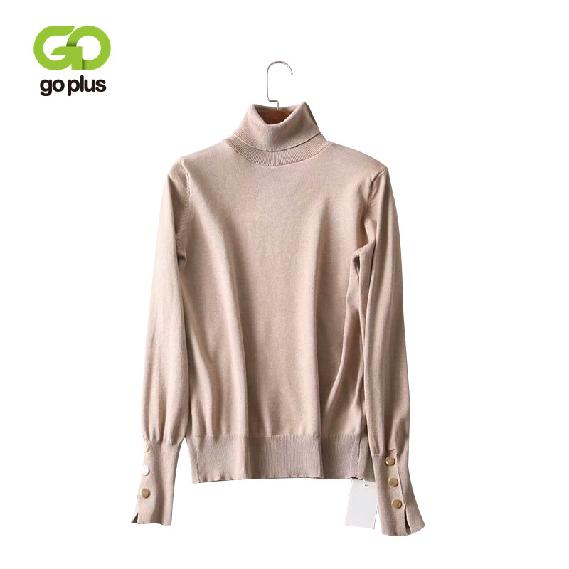 GOPLUS Women's Turtleneck Sweater Knitted Jacket Jumper Winter Clothes Women Oversized Sweaters Pull Femme Jersey Mujer Invierno