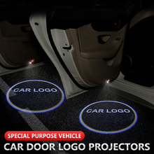 2pcs Welcome Light Car Door Logo Projector Shadow Lamp Universal For Abarth Rolls-Royce Daihatsu Bentley Subaru Ford