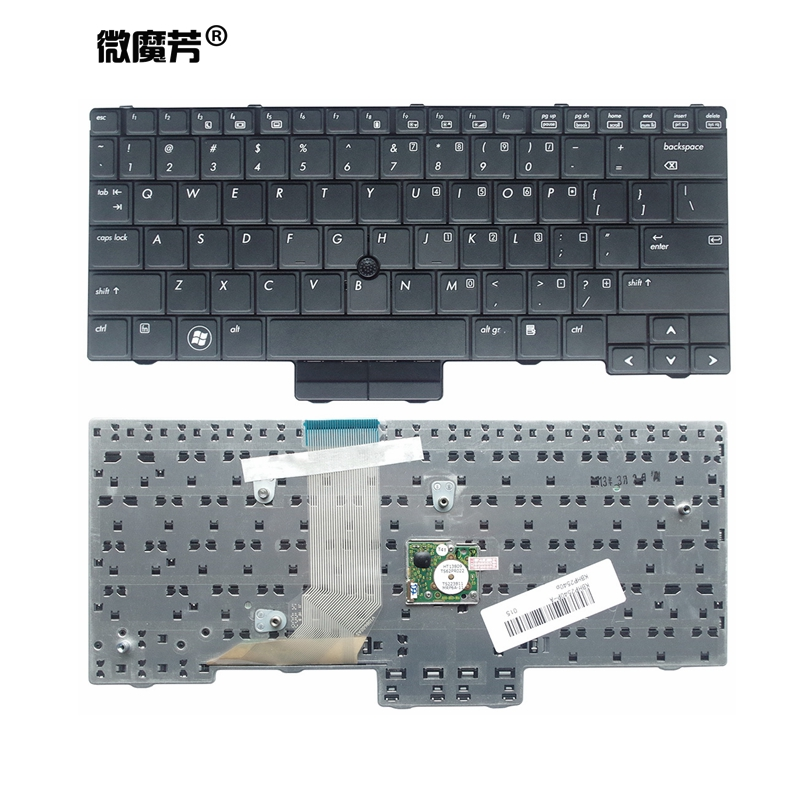 NEW US Black Keyboard For HP EliteBook 2540 2540p 598790-001 V108602AS1 PK1309C2A00 English