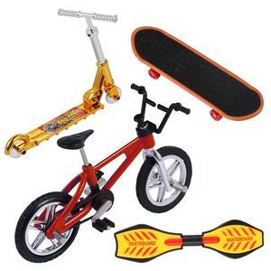 1 conjunto mini dedo skate fingerboard bmx conjunto de bicicleta divertido skate placas mini bicicletas brinquedos para crianças meninos crianças presentes